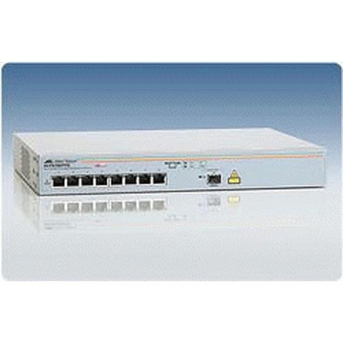 Allied Telesis AT-FS708/POE Unmanaged Switch Non-géré Connexion Ethernet, supportant l'alimentation via ce port (PoE) photo du produit  L