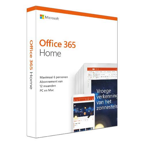 Microsoft Office 365 Home 1 jaar Nederlands productfoto