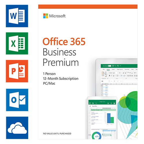 Microsoft Office 365 Business Premium 1 licentie(s) 1 jaar Engels productfoto