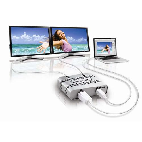 Matrox DualHead2Go Digital ME DisplayPort 2x DVI-D productfoto