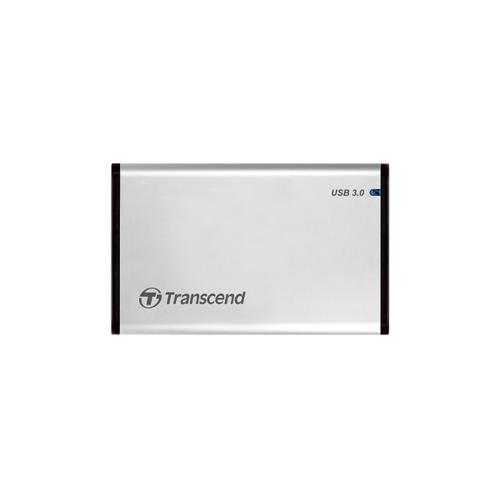 "Transcend StoreJet 25S3 2.5"" HDD-/SSD-behuizing Zilver Stroomvoorziening via USB productfoto"