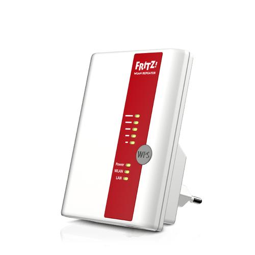AVM FRITZ!WLAN Repeater 450E International 450 Mbit/s Rood, Wit productfoto