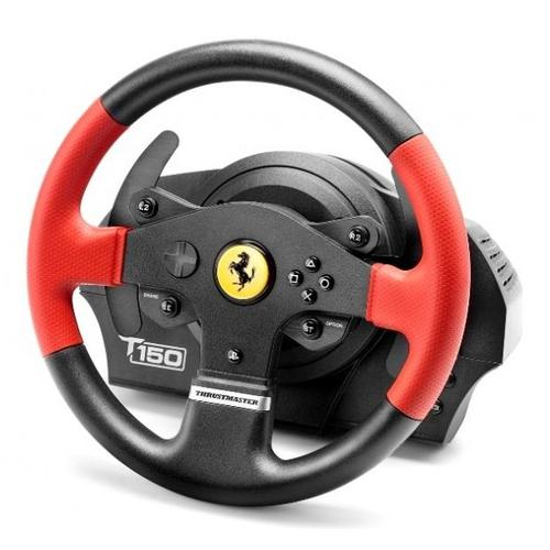 Thrustmaster T150 Ferrari Wheel Force Feedback Stuurwiel + pedalen PC,PlayStation 4,Playstation 3 USB Zwart, Rood productfoto