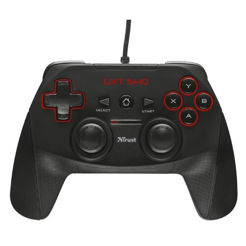 Trust GXT 540 Yula Gamepad - Controller voor PC & PlayStation 3 - PS3 - Zwart productfoto