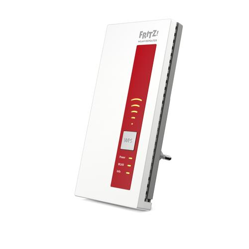AVM FRITZ!WLAN Repeater 1160 866 Mbit/s Rood, Wit productfoto