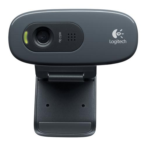 Logitech C270 webcam 3 MP 1280 x 720 Pixels USB 2.0 Zwart productfoto