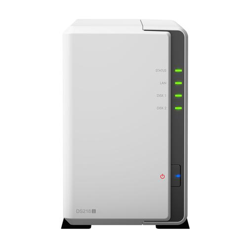 Synology DiskStation DS218j Ethernet LAN Compact Wit NAS productfoto