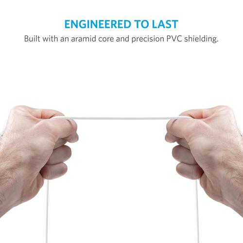 Anker PowerLine 3ft Lightning Combo 0,9 m Wit productfoto  L