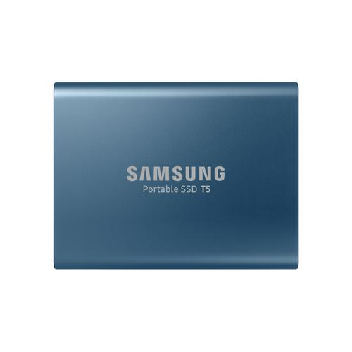 Samsung Portable SSD T5 500 GB Blauw productfoto