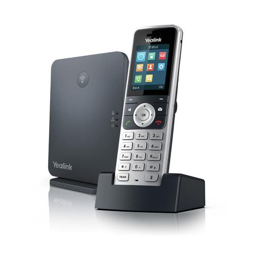Yealink W53P DECT basis station Zwart, Zilver productfoto