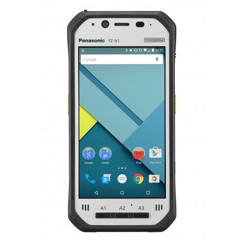 "Panasonic Toughpad FZ-N1 4G LTE 32 GB 11,9 cm (4.7"") Qualcomm Snapdragon 3 GB Wi-Fi 5 (802.11ac) Android 8.1 Oreo Zwart, Zilver productfoto"
