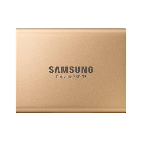 Samsung Portable SSD T5 500 GB Goud productfoto