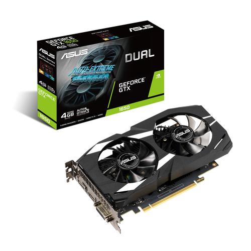 ASUS Dual -GTX1650-4G GeForce GTX 1650 4 GB GDDR5 productfoto