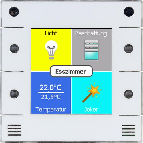 digitalSTROM u::lux Switch dS thermostaat Wit productfoto