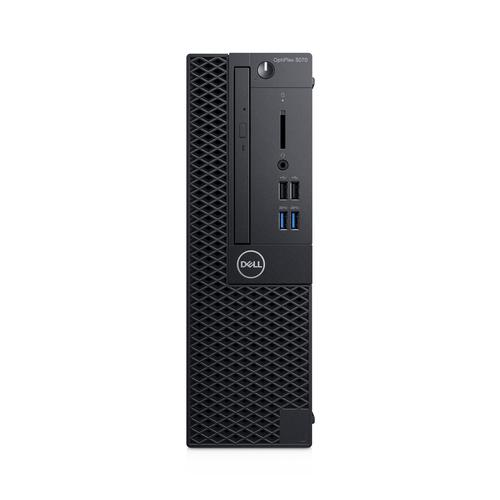 DELL OptiPlex 3070 Intel® 9de generatie Core™ i3 i3-9100 8 GB DDR4-SDRAM 256 GB SSD SFF Zwart PC Windows 10 Pro productfoto