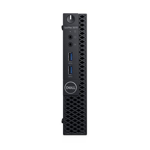 DELL OptiPlex 3070 Intel® 9ste generatie Core™ i3 i3-9100T 4 GB DDR4-SDRAM 128 GB SSD Zwart MFF Mini PC productfoto