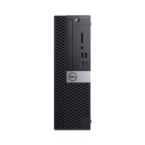 DELL OptiPlex 5070 Intel® 9ste generatie Core™ i5 i5-9500 8 GB DDR4-SDRAM 256 GB SSD Zwart SFF PC productfoto