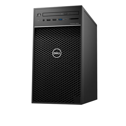 DELL Precision 3630 Intel® 9de generatie Core™ i7 i7-9700K 16 GB DDR4-SDRAM 512 GB SSD Tower Zwart PC Windows 10 Pro productfoto