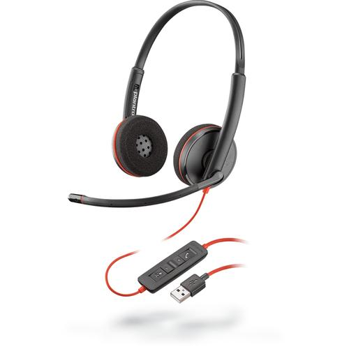POLY Blackwire C3220 Headset Hoofdband USB Type-A Zwart productfoto
