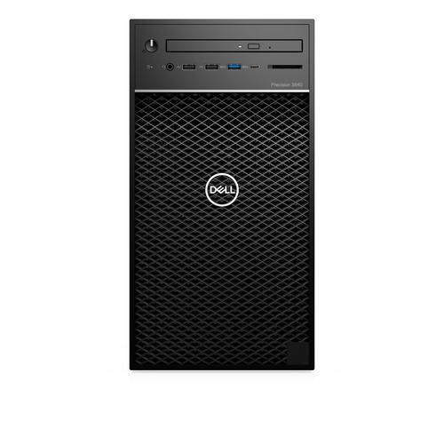 DELL Precision 3640 Intel® 10de generatie Core™ i7 i7-10700K 16 GB DDR4-SDRAM 512 GB SSD Tower Zwart PC Windows 10 Pro productfoto
