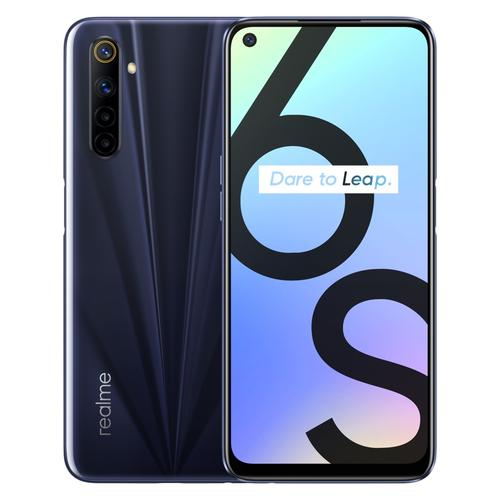 "realme 6S 16,5 cm (6.5"") Android 10.0 4G USB Type-C 4 GB 64 GB 4300 mAh Zwart productfoto"