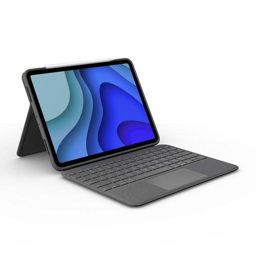 Logitech Folio Touch Grijs Smart Connector QWERTY UK International productfoto
