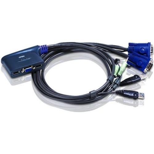 Aten CS62US KVM-switch Zwart productfoto