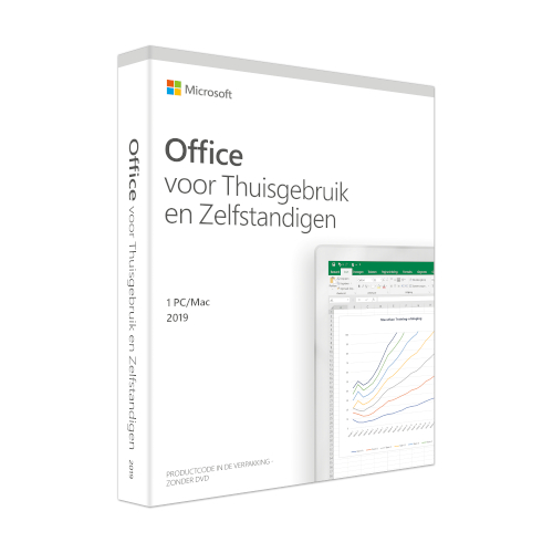 Microsoft Office 2019 Home and Business Nederlands productfoto