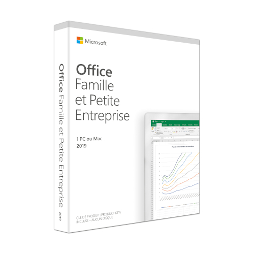 Microsoft Office 2019 Home and Business Frans productfoto