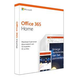 Microsoft Office 365 Home 1 year(s) Dutch product photo