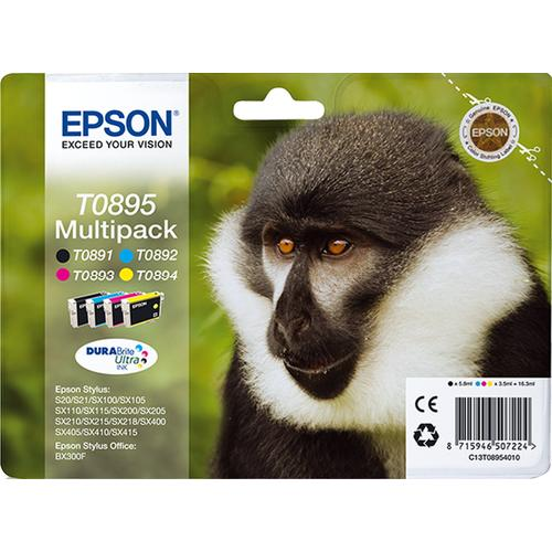 Epson Monkey Multipack 4-colours T0895 DURABrite Ultra Ink product photo