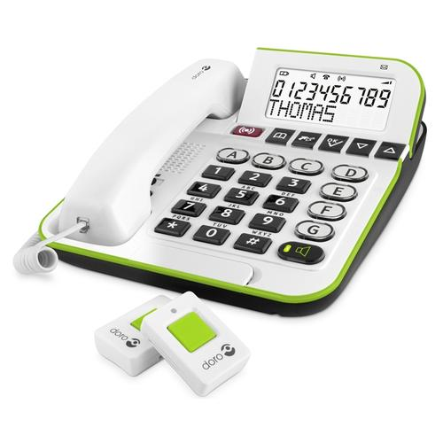 Doro Secure 350 DECT telephone White Caller ID product photo
