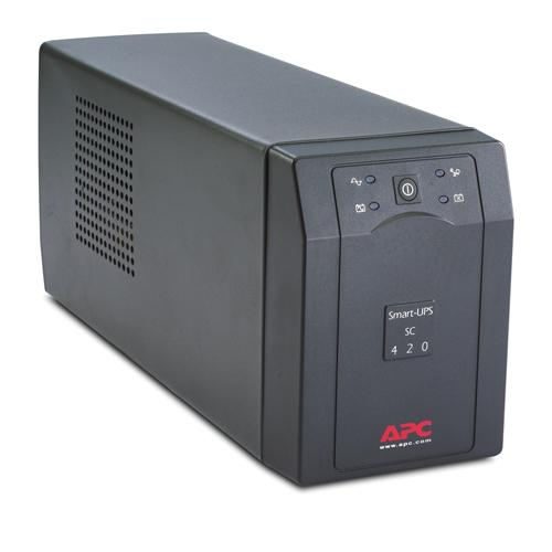 APC Smart-UPS uninterruptible power supply (UPS) Line-Interactive 420 VA 260 W 4 AC outlet(s) product photo  L