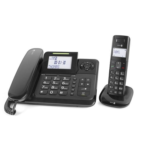 Doro Comfort 4005 Analog/DECT telephone Black Caller ID product photo
