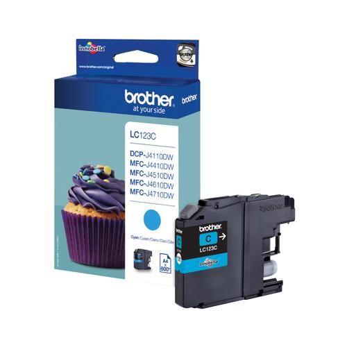 Brother LC-123C ink cartridge Original Cyan 1 pc(s) product photo