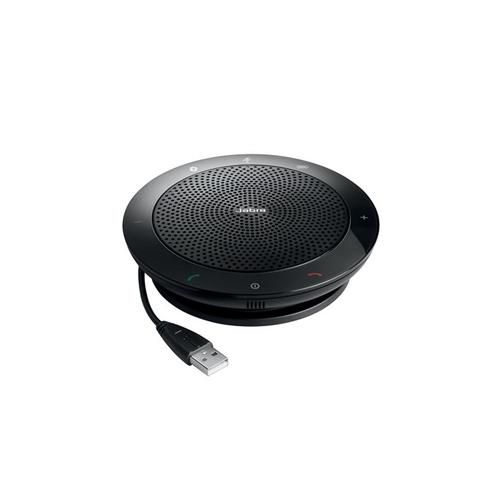 Jabra Speak 510 MS speakerphone Universal Black USB/Bluetooth product photo