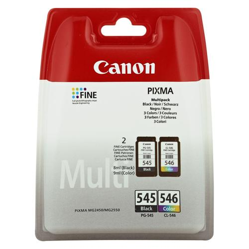 Canon PG-545/CL-546 Multipack ink cartridge 2 pc(s) Original Black, Cyan, Magenta, Yellow product photo