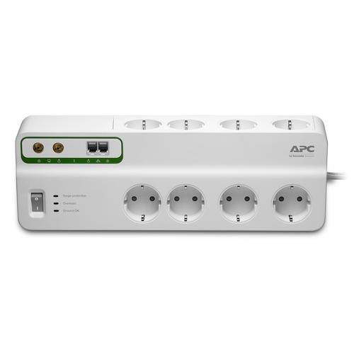 APC PMF83VT-GR surge protector 8 AC outlet(s) 230 V 3 m White product photo
