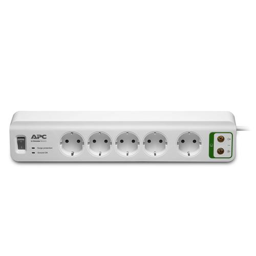 APC PM5V-GR surge protector 5 AC outlet(s) 230 V 1.83 m White product photo