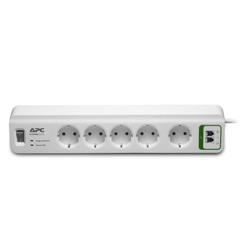 APC PM5T-GR surge protector 5 AC outlet(s) 230 V 1.83 m White product photo