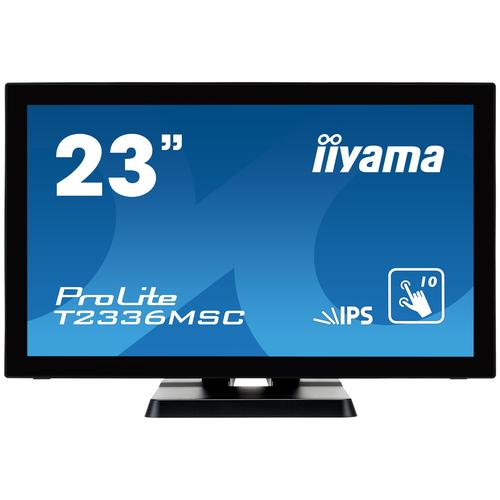 "iiyama ProLite T2336MSC-B2 touch screen monitor 58.4 cm (23"") 1920 x 1080 pixels Black Multi-touch product photo"