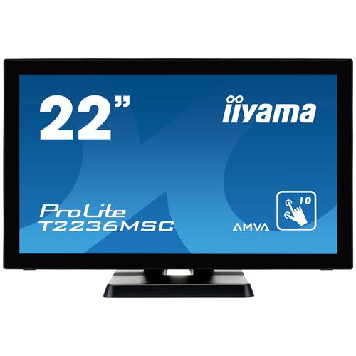 "iiyama ProLite T2236MSC-B2 touch screen monitor 54.6 cm (21.5"") 1920 x 1080 pixels Multi-touch product photo"