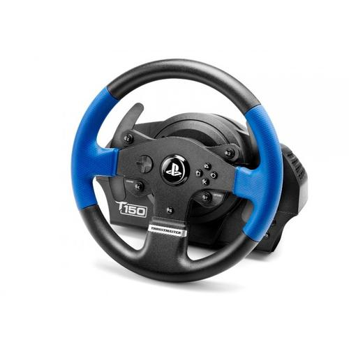 Thrustmaster T150 Force Feedback Steering wheel + Pedals PC,PlayStation 4,Playstation 3 Black,Blue product photo