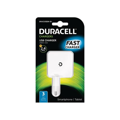 Duracell 2.4A USB Phone/Tablet Charger product photo