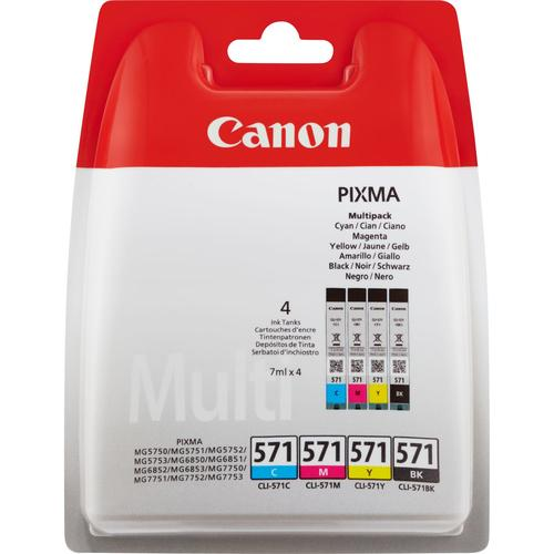 Canon CLI-571 Multipack Original Black,Cyan,Magenta,Yellow 4 pc(s) product photo