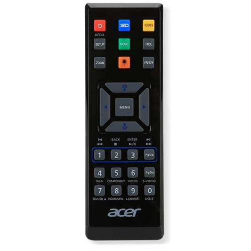 Acer E25 remote control IR Wireless Universal Press buttons product photo