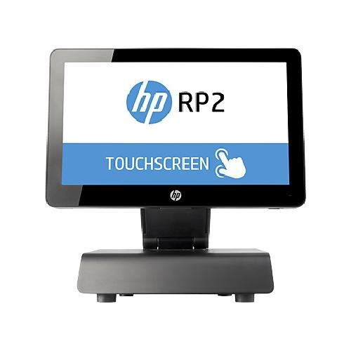 "HP RP2 2030 35.6 cm (14"") 1366 x 768 pixels Touchscreen 2.41 GHz J2900 All-in-one Black product photo"