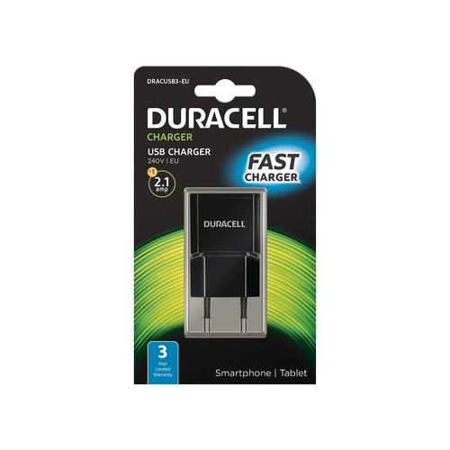 Duracell 2.1A USB Phone/Tablet Charger product photo