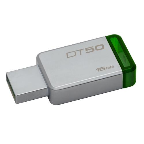 Kingston Technology DataTraveler 50 16GB USB flash drive USB Type-A 3.0 (3.1 Gen 1) Green,Silver product photo