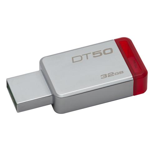 Kingston Technology DataTraveler 50 32GB USB flash drive USB Type-A 3.0 (3.1 Gen 1) Red,Silver product photo